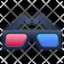 Cinema Glasses 3 D Glasses 3 D Spectacles Icon