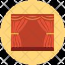 Cinema Hall Curtain Icon