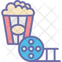 Cinema Menu Cinema Snacks Popcorns Icon