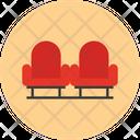 Cinema Sofa Seat Cinema Icon