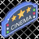 Theatre Sign Board Cinema Sign Board Entertainment House Icon