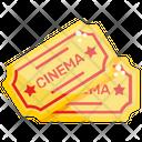 Cinema Tickets Cinema Pass Show Passes Icon