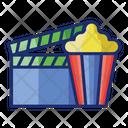Cinematheatre Popcorn Clapper Icon