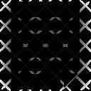 Circle Document File Icon