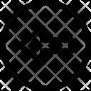Circle Arrow Points Icon