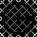 Circle Radius Geometry Icon
