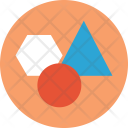 Circle Triangle Hexagon Icon