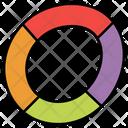 Doughnut Chart Pie Chart Graphical Presentation Icon