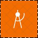 Circle Compass Measure Icon