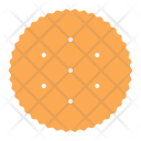 Circle Cracker Biscuit Icon