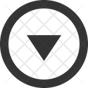 Circle Down Arrow Down Arrow Down Icon