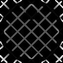 Circle label Icon