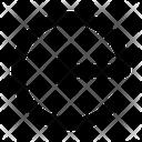 Circle Line Left Icon