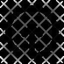 Circle Line Up Icon