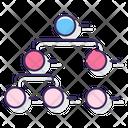 Circle Picture Hierarchy Flowchart Hierarchy Icon