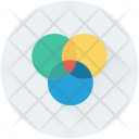 Overlap Intersection Circles Icon