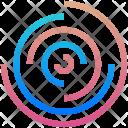 Part Circles Logogram Icon