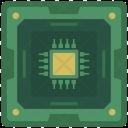 Chipset Processor Chip Icon