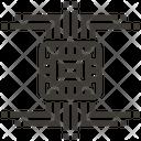 Circuit Chip Artificial Icon