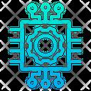 Chip Microchip Cog Icon