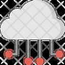 Circuit Cloud Computing Icon