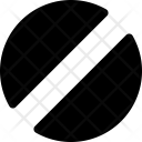 Circular Shape Half Icon