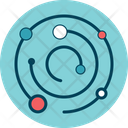 Circular Orbits Planets Icon