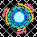 Circular Equalizer Electronic Icon