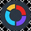 Circular Graph Pie Chart Statistical Data Icon
