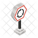 Road Sign Roundabout Road Road Indicator Icon