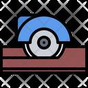 Circular Saw Wood Icon