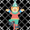 Circus Performer Clown Icon