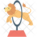 Circus Fire Hoop Icon
