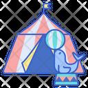 Circus Tent Fun Icon