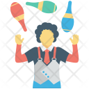 Circus Jester Juggling Icon