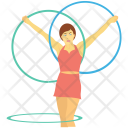 Circus Cyr Wheel Icon