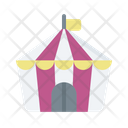 Circus Camp Tent Icon
