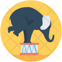 Circus Elephant Animal Icon
