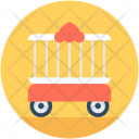 Circus Trolley Cart Icon