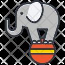 Circus Elephant Animal Icon