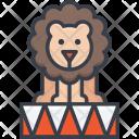 Circus Lion Animal Icon