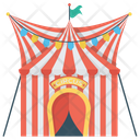 Circus Circus Tent Outdoor Circus Icon