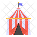 Funfair Canopy Carnival Tent Icon