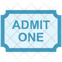 Circus Ticket Movie Ticket Admit One Icon