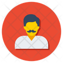 Citizen Mustache Man Dad Icon