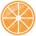 Half Citrus Orange Icon