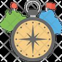 City Compass Map Icon