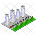 Isometric City Building Icon