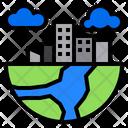 City Globe Plant Icon