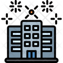 Buildings Fireworks Skyscrapers Icon